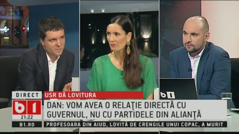 Nicușor Dan, despre situația de după alegerile parlamentare: Vrem să avem o relație exclusivă cu Guvernul, nu și lateral cu celelalte partide - foto (captura video): .b1.ro