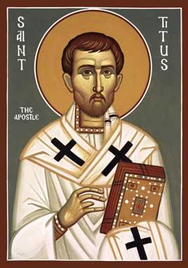 Sfântul, slăvitul și întru tot lăudatul Apostol Tit s-a născut în Creta, din părinţi idolatri, fiind de origine greacă. Ajungând la credinţa în Hristos prin intermediul Sfântului Apostol Pavel, el devine ucenicul acestuia și devotat tovarăș și ajutor în timpul propovăduirii Evangheliei. El a fost unul din Cei Șaptezeci de Apostoli. Este pomenit de Biserică în 25 august, iar la 4 ianuarie împreună cu Cei Șaptezeci - foto: ro.orthodoxwiki.org