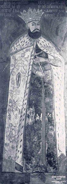Șerban Cantacuzino (n. 1640 – d. 29 octombrie/8 noiembrie 1688) a fost domnul Țării Românești între 1678 și 1688. Era membru al ilustrei familii de origine bizantină a Cantacuzinilor, fiind fiul postelnicului Constantin Cantacuzino și frate al marelui cărturar stolnicul Constantin Cantacuzino. În calitate de conducător al statului muntean aflat sub vasalitatea turcilor, a participat alături de armatele otomane la asediul Vienei din 1683. A negociat însă cu imperialii trecerea Țării Românești în tabăra creștină, năzuind la poziția de protector al creștinilor din peninsula Balcanică, habsburgii promițându-i tronul imperial al unui Constantinopol eliberat de păgâni. După moarte a fost succedat în domnie de Constantin Brâncoveanu - Copie după portretul de la Mânăstirea Hurezi - foto preluat de pe ro.wikipedia.org