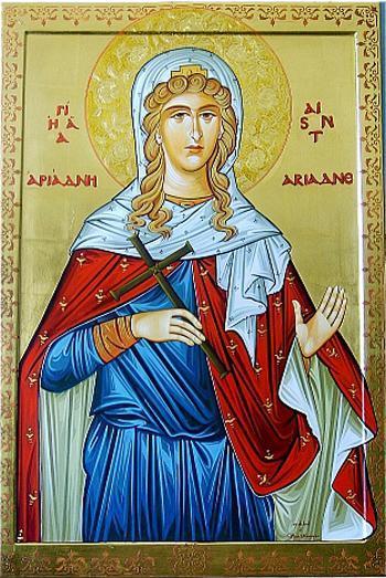 Sfânta Muceniţă Ariadna. Prăznuirea sa de către Biserica Ortodoxă se face la data de 18 septembrie - foto: doxologia.ro