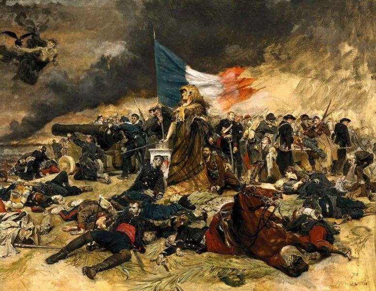 The Siege of Paris by Jean-Louis-Ernest Meissonier. Oil on canvas - foto: en.wikipedia.org