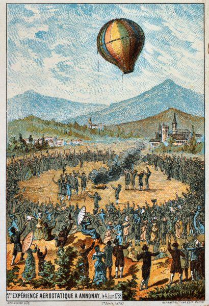 First public demonstration in Annonay, 4 June 1783 - foto: en.wikipedia.org