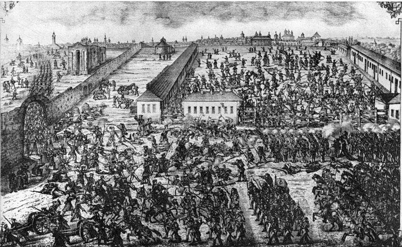 Bătălia din Dealul Spirii (13 septembrie 1848, București) Parte a Revoluției de la 1848 - foto preluat de pe ro.wikipedia.org