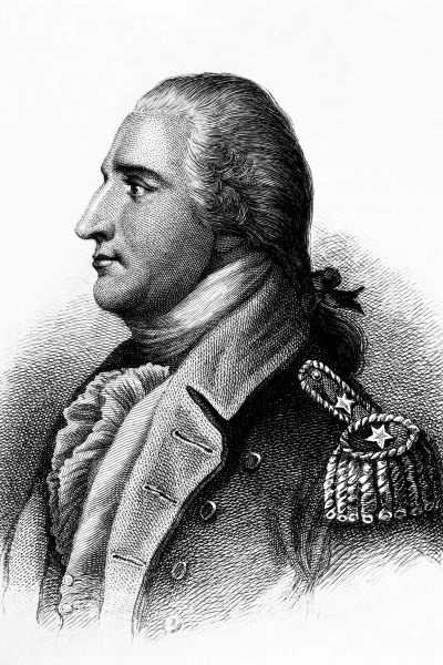 Benedict Arnold (n. 14 ianuarie 1741, Norwich, Connecticut – d. 14 iunie 1801, Londra, Anglia) a fost inițial un rebel în a 13-a colonie de pe coasta de est nord-americană, care a devinit ulterior general în Continental Army. A trecut de partea englezilor, fiind considerat în SUA un trădător - in imagine, Engraving of Arnold, by H. B. Hall, after John Trumbull - foto: ro.wikipedia.org