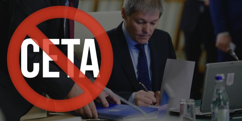 Scrie-i lui Cioloș să nu semneze CETA - foto: de-clic.ro