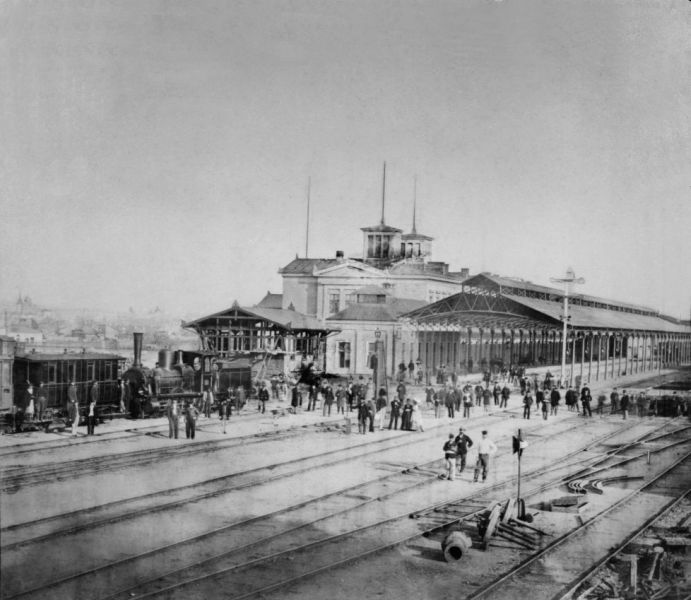 Gara de Nord, la inaugurarea din 25 septembrie 1872 FOTO Muzeul CFR (preluat de pe: historia.ro