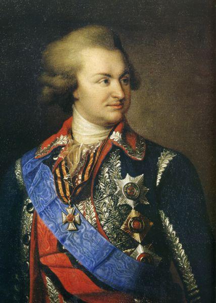 Prințul Grigori Alexandrovici Potiomkin, cunoscut în limba română și ca Potemkin (n. 23/24 septembrie 1739 - d. 5/16 octombrie 1791) a fost un general-feldmareșal rus, demnitar al statului și favorit al țarinei Ecaterina a II-a a Rusiei. A murit în timpul unei călătorii de la Iași la Nikolaev. Termenul Potemkiniadă este legat de numele său - foto: en.wikipedia.org