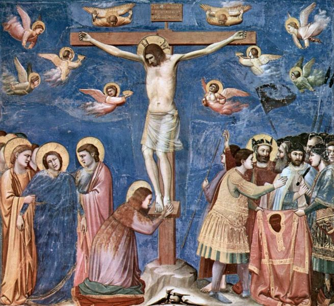 Christ crucified, painted by Giotto, circa 1310 - foto preluat de pe en.wikipedia.org
