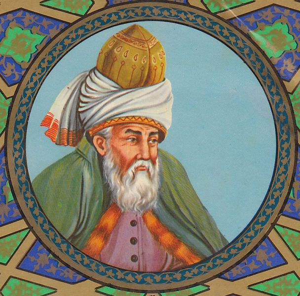 Jalal ad-Din Muhammad Rumi, pe numele său complet Mawlānā Jalāl ad-Dīn Muhammad Rūmī, cunoscut și ca Mawlānā Jalāl-ad-Dīn Muhammad Balkhī (n. 30 septembrie 1207, Balch, astăzi în Afghanistan; d. 17 decembrie 1273, Konya, astăzi în Turcia) a fost unul din cei mai cunoscuți mistici persani și islamici, întemeietor al Ordinului Mevlevi - foto: ro.wikipedia.org