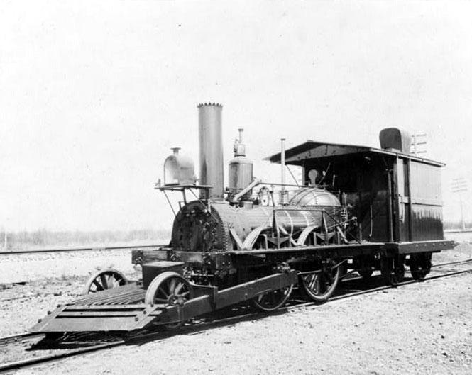 """John Bull este o locomotivă cu aburi de fabricație britanică, ce a funcționat în Statele Unite. A fost pusă în funcțiune pentru prima oară în ziua de 15 septembrie 1831, iar în 1981, când a fost repusă în funcțiune de Institutul Smithsonian a devenit cea mai veche locomotivă cu aburi funcțională din lume.[1][2] Construită de Robert Stephenson and Company, John Bull a fost achiziționată de Camden and Amboy Railroad, companie care a operat pe prima cale ferată din statul New Jersey, și care i-a dat lui John Bull numărul 1, botezând-o """"Stevens"""". C&A a utilizat locomotiva intensiv între 1833 și 1866, când a fost scoasă din funcțiune și garată - foto (1893): ro.wikipedia.org"""