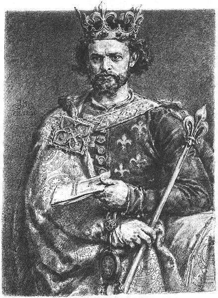 """Ludovic I numit cel Mare [magh. I. Nagy Lajos, pl. Ludwik Węgierski sau Ludwik I Wielki, Andegawenski, în trad. """"Ludovic Maghiarul"""", """"Ludovic cel Mare"""", """"Ludovic Angevinul""""], (n. 3 martie 1326 - d. 10 septembrie 1382) a fost rege al Ungariei (1342 - 1382) şi al Poloniei (1370 - 1382), fiul lui Carol Robert din dinastia de Anjou - in imagine, Ludovic I de Anjou I, pictură de Jan Matejko - foto: ro.wikipedia.org"""
