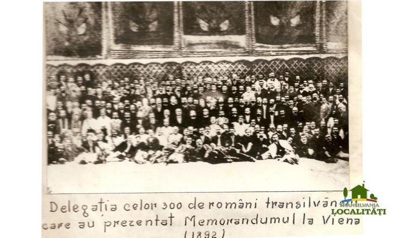 Delegația celor 300 de români transilvăneni care au prezentat Memorandumul la Viena, pe 28 mai 1892 - foto: cersipamantromanesc.wordpress.com