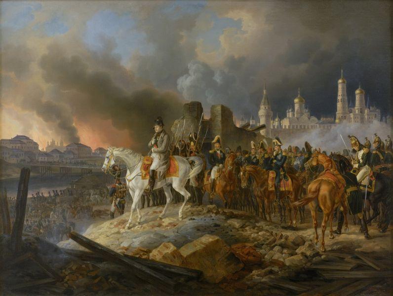 Napoleon watching the burning Moscow (Adam Albrecht 1841) - foto: en.wikipedia.org