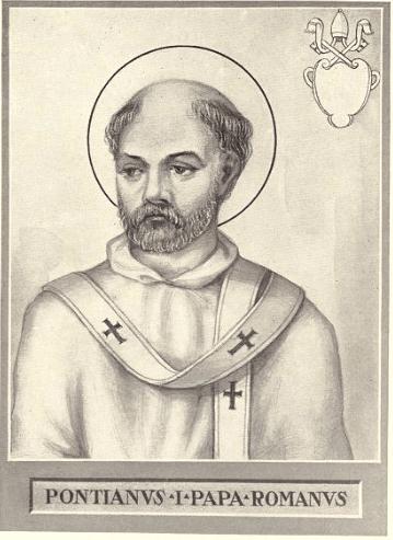 Sfântul Ponţian, papă (în latină Pontianus) a deținut funcția papală în perioada anilor 230 – 235 - foto: en.wikipedia.org