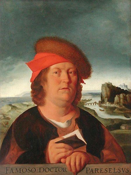 Paracelsus (Teofrast, Philippus Aureolus Theophrastus Bombastus von Hohenheim) (n. 1493 sau 1494 - d. 24 septembrie 1541, Salzburg) a fost un celebru alchimist, medic, fizician, astrolog, teolog, filozof elvețian. A fost inițiatorul mișcării iatrochimice - in imagine, Paracelsus - portret de Quentin Matsys - foto: ro.wikipedia.org