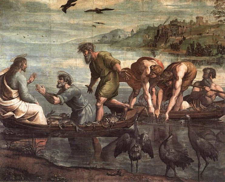 """The Miraculous Draught of Fishes"" (1515 - 1516) by Raphael,  (1483 - 1520) - foto: en.wikipedia.org"
