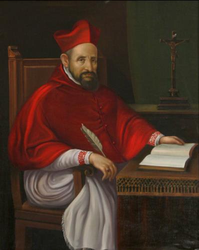 Sfântul Robert Bellarmin (* 4 octombrie 1542, Montepulciano, † 17 septembrie 1621, Roma), membru al ordinului iezuit, cardinal, doctor al Bisericii Canonizat în anul 1930, iar în 1931 trecut în rândul doctorilor Bisericii - foto: en.wikipedia.org