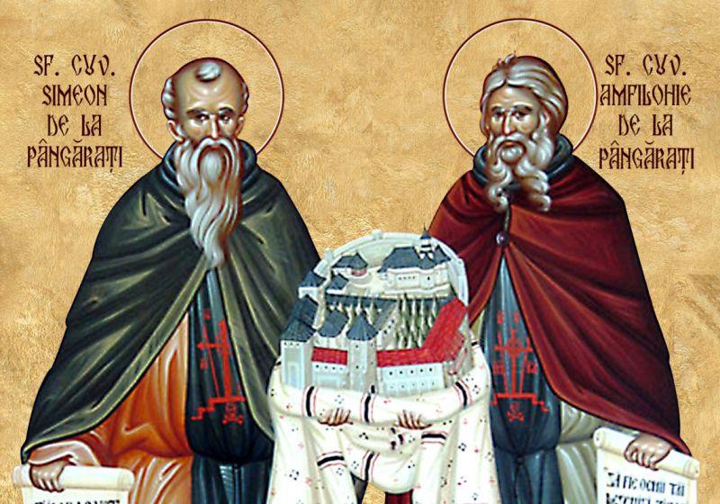Sf. Cuv. Simeon și Amfilohie de la Pângărați (sec. XV-XVI) - foto preluat de pe ziarullumina.ro