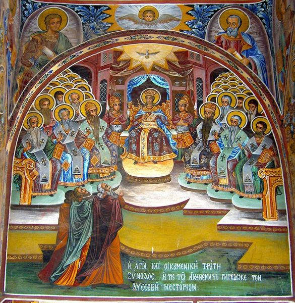 Sfinţii Părinţi de la Sinodul al III-lea Ecumenic - foto preluat de pe doxologia.ro