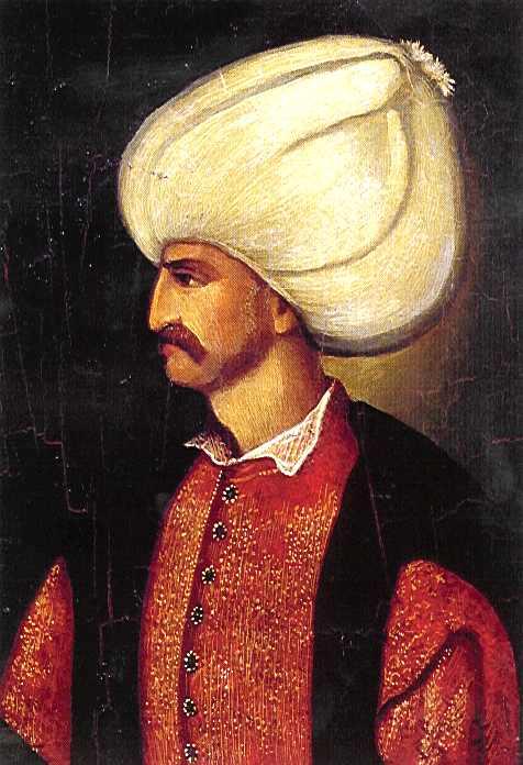 """Soliman I (n. 6 noiembrie 1494 - d. 5/6 septembrie 1566) sau Suleiman Legiuitorul a fost al zecelea sultan al Imperiului otoman între anii 1520-1566, fiind unul dintre cei care au domnit o perioadă lungă de timp. În Occident acesta este cunoscut sub numele de Soliman cel Strălucit (""""Magnificul""""), iar în Orient sub numele de Suleiman Legiuitorul datorită implicării sale în finalizarea sistemului de legi al Imperiului Otoman - foto preluat de pe ro.wikipedia.org"""