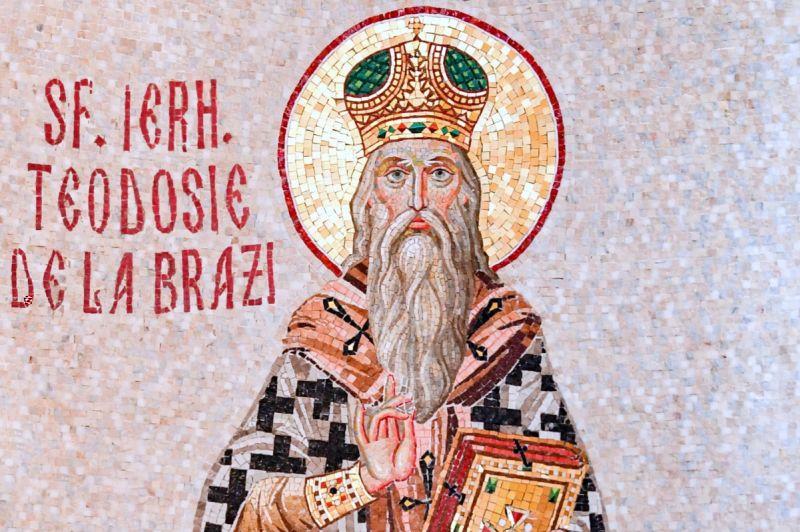 Sf. Ierarh Mc. Teodosie de la Mănăstirea Brazi, mitropolitul Moldovei (sec. al XVII-lea) - foto preluat de pe ziarullumina.ro