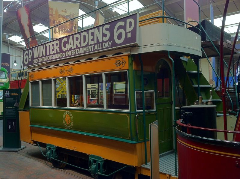 Blackpool Electric Tramway Company 4 at the National Tramway Museum - foto: en.wikipedia.org