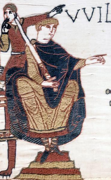 William Cuceritorul sau William I al Angliei sau William de Normandia (în franceză Guillaume le Conquérant și Guillaume II de Normandie, iar în engleză William the Conqueror; c. 1028 – 9 septembrie 1087) a fost rege al Angliei din 1066 până în 1087. Descendent al vikingilor, el a fost Duce de Normandia din 1035 sub numele de William al II-lea. După o luptă lungă pentru a-și stabiliza puterea, în anul 1060 poziția sa în Normandia era sigură iar el s-a lansat în cucerirea normandă a Angliei în 1066. Restul vieții sale a fost marcat de lupte pentru a-și consolida puterea asupra Angliei și a pământurilor sale continentale și de dificultățile cu fiul său cel mare - in imagine, William Cuceritorul, detaliu de pe Tapiseria din Bayeux - foto preluat de pe ro.wikipedia.org
