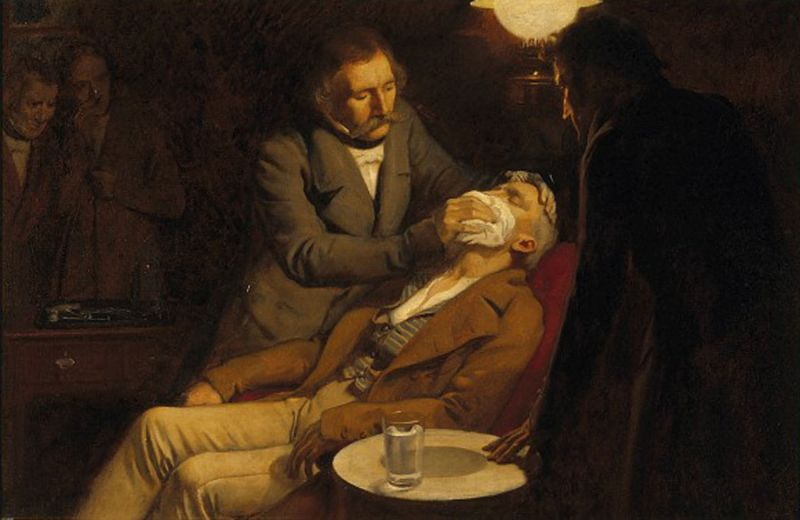 The first use of ether as an anaesthetic in 1846 by Morton - foto: en.wikipedia.org