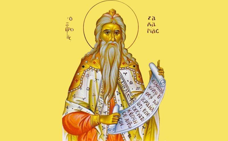 Sfinţii Proroc Zaharia -  foto preluat de pe ziarullumina.ro