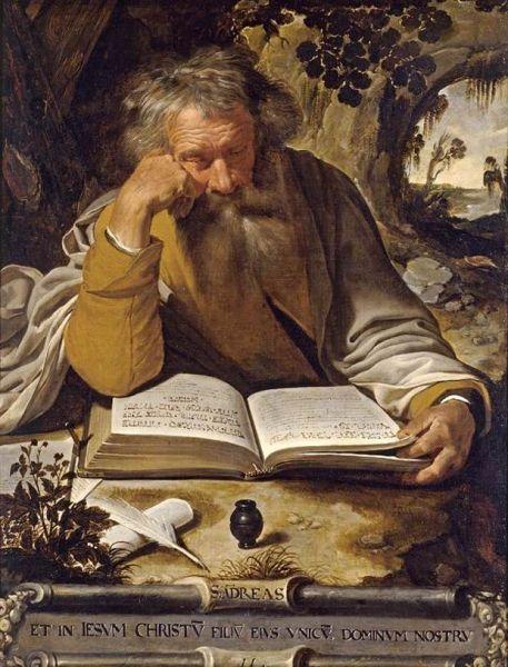 Sfântul, slăvitul și întru tot lăudatul Apostol Andrei, cel Întâi-chemat, era din Betsaida, Galileea, fiu al lui Iona și frate al lui Petru, cel dintâi dintre ucenicii lui Iisus Hristos. Este socotit ocrotitorul mai multor țări, între care România și Scoția. Prăznuirea lui principală se face la 30 noiembrie; mai este prăznuit și împreună cu ceilalți Apostoli la 30 iunie - in imagine, Saint Andrew the Apostle by Artus Wolffort - foto: en.wikipedia.org