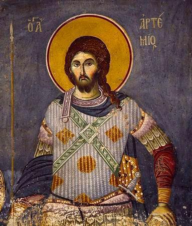 Sfântul Mare Mucenic Artemie. Prăznuirea sa de către Biserica Ortodoxă Romana se face la data de 20 octombrie - foto preluat de pe basilica.ro