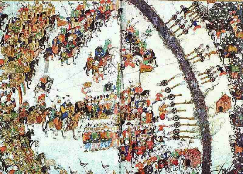 Bătălia de la Keresztes (24 - 26 octombrie 1596) - parte din Războiul cel Lung (1591/1593 – 1606) - (miniatură otomană) foto preluat de pe: ro.wikipedia.org