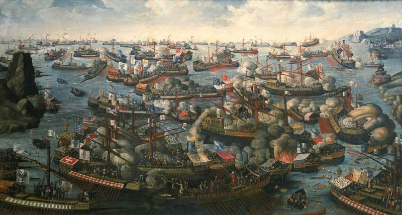 Bătălia de la Lepanto (7 octombrie 1571), H. Letter, National Maritime Museum, Greenwich/Londra - foto: ro.wikipedia.org