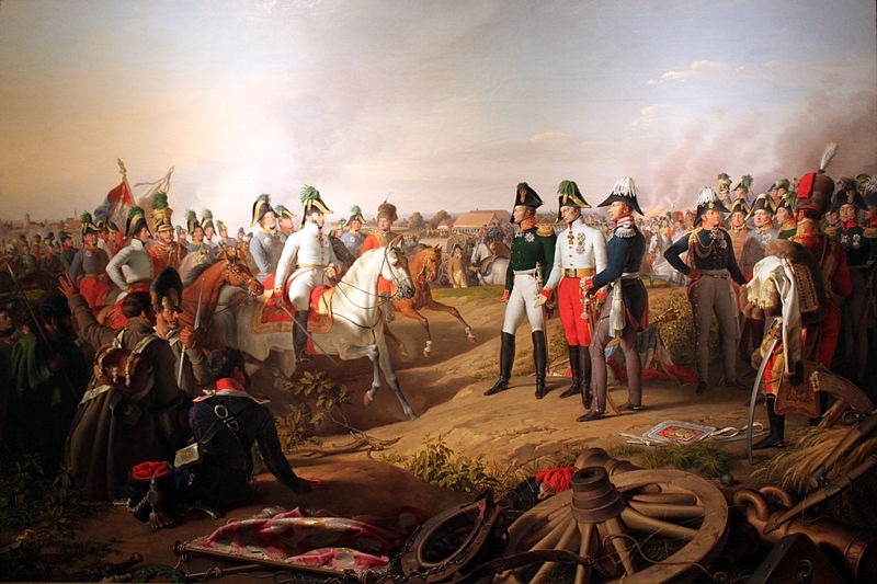 Alexander I of Russia, Francis II of Austria and Frederick William III of Prussia meet after the battle - foto: en.wikipedia.org
