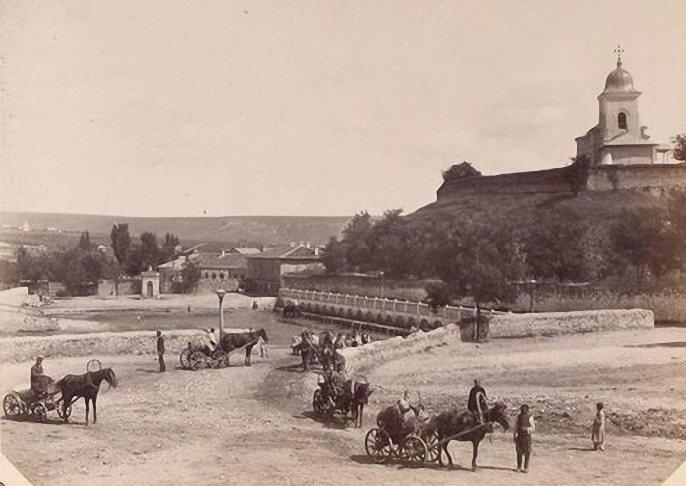 Poalele Colinei Măzărachi, Chişinău, sf. sec. al XIX-lea. Imagine preluată din Albumul Kondratkov, anul 1889 - foto: ro.wikipedia.org