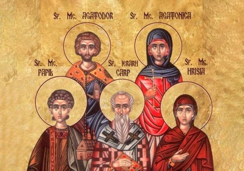 Sf. Mc. Carp, Papil, Agatodor, Agatonica şi Hrisia (13 octombrie) - foto preluat de pe ziarullumina.ro
