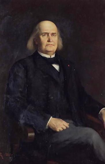 """Charles Marie René Leconte de Lisle (n. 22 octombrie 1818 - d. 18 iulie 1894) a fost un poet francez, reprezentant recunoscut al curentului parnasianist, teoretician al """"artei pentru artă"""" și al interdependenței dintre poezie și știință - in imagine, Portrait of Leconte de Lisle by Blanquer Jacques-Léonard - foto: ro.wikipedia.org"""