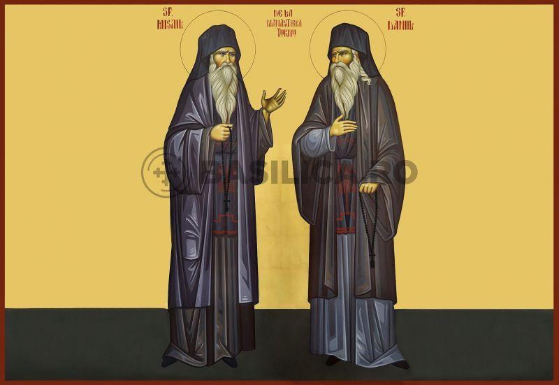 Sfinţii Cuvioşi pustnici Daniil şi Misailde la Mănăstirea Turnu s-au născut în a doua jumătate a veacului al XVI-lea în părţile Olteniei. Prăznuirea lor de catre Biserica Ortodoxă Romana se face la data de 5 octombrie - foto: basilica.ro