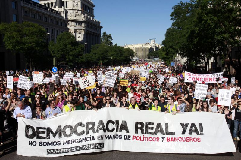 Democracia real YA demonstration in Madrid on May 15, 2011 - foto: en.wikipedia.org