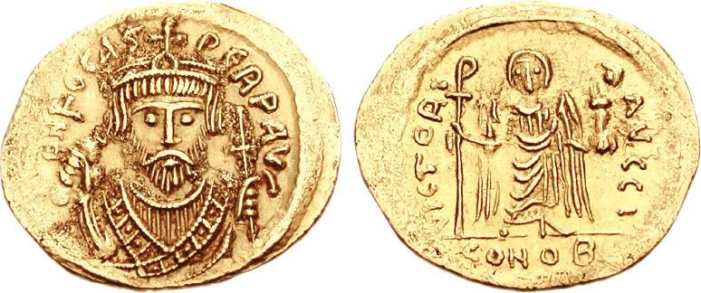 Flavius Focas Augustus, cunoscut sub numele de Focas Tiranul, a fost împărat bizantin între 602 și 610. A ajuns la tron în urma răscoalei împotriva lui Mauriciu și a fost detronat de Heraclius - foto: ro.wikipedia.org