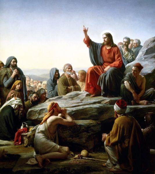 """""""Sermon on the Mount"""" by Carl Bloch - foto preluat de pe en.wikipedia.org"""