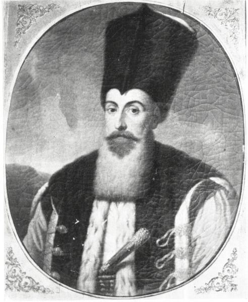 """Principele Ioan Gheorghe Caradja (n. 1754 la Constantinopol – d. 1844 la Atena) cunoscut în bibliografia în limba română și drept Ioan Vodă Caragea sau Ioan Gheorghe Caragea, a fost un domnitor fanariot al Țării Românești (1812-1818). A devenit faimos pentru primul cod de legi din Valahia care îi poartă numele (""""Legiuirea Caradja""""), politicile fiscale excesive dar și pentru măsurile eficiente luate împotriva epidemiei de ciumă bubonică care a izbucnit în 1813, la un an de la urcarea sa pe tron (Ciuma lui Caragea) - foto: ro.wikipedia.org"""
