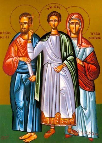 Sfântul Prooroc Ioil, Sfântul Mucenic Uar, Sfânta Cleopatra.  Prăznuirea lor de către Biserica Ortodoxă Romana se face la data de 19 octombrie - foto: doxologia.ro