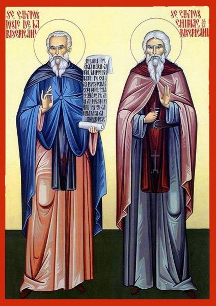 Sfinții Cuvioși Iosif și Chiriac de la Bisericani. Prăznuirea lor în Biserica Ortodoxă se face pe 1 octombrie - foto: doxologia.ro
