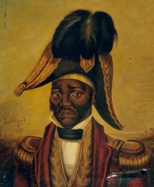 Jean-Jacques Dessalines, iar în creola haitiană Janjak Desalin, (născut la 20 septembrie 1758, la Grande-Rivière-du-Nord, Hispaniola - mort la 17 octombrie 1806) a fost un sclav negru din insula Hispaniola, conducător al luptei sclavilor din colonie, apoi împărat al Haiti, sub numele de Jacques I - in imagine, Posthumous portrait of Dessalines - foto: en.wikipedia.org