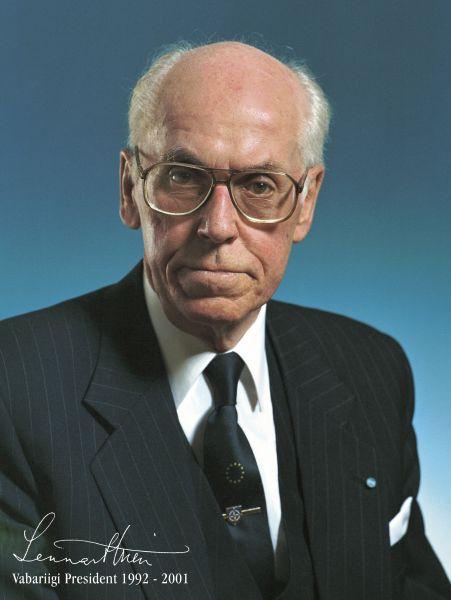 Lennart Georg Meri (29 martie 1929 – 14 martie 2006) a fost un scriitor, regizor și politician eston care a deținut funcția de președinte al Estoniei între 1992 și 2001. Meri a fost unul dintre conducătorii mișcării estoniene de independență față de URSS - foto: kadriorg.ee