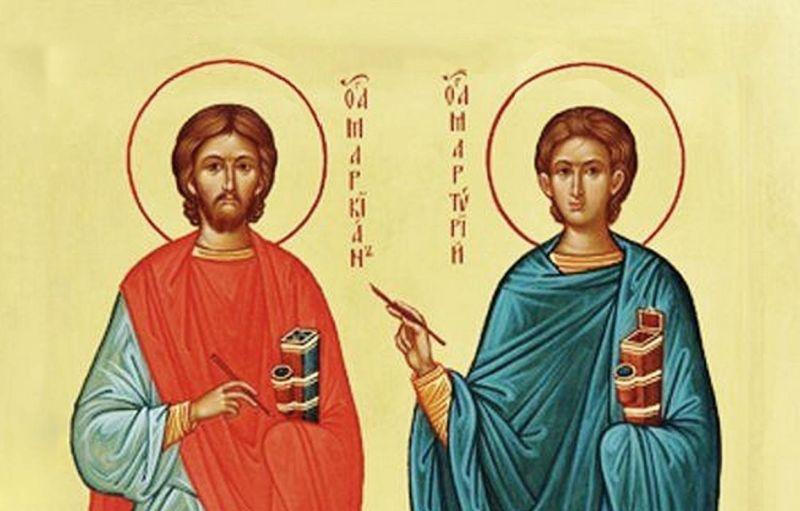 Sfinții Mucenici Marcian şi Martirie (25 octombrie) - foto preluat de pe ziarullumina.ro
