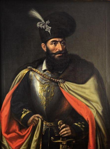 Mihai Viteazul (n. 1558, Floci, Ţara Românească – d. 9 august 1601, Câmpia Turzii, Principatul Transilvaniei) a fost domnul Ţării Româneşti între 1593-1600. Pentru o perioadă (în 1600), a fost conducător de facto al celor trei mari ţări medievale care formează România de astăzi: Ţara Românească, Transilvania şi Moldova. Înainte de a ajunge pe tron, ca boier, a deţinut dregătoriile de bănişor de Strehaia, stolnic domnesc şi ban al Craiovei - (portret de Mişu Popp) - foto preluat de pe ro.wikipedia.org