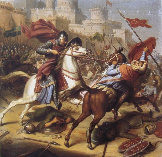 "Robert de Normandia la asediul Antiohiei 1097–1098, pictură de J.J. Dassy, 1850, ""Croisades, origines et consequences."" - foto: ro.wikipedia.org"