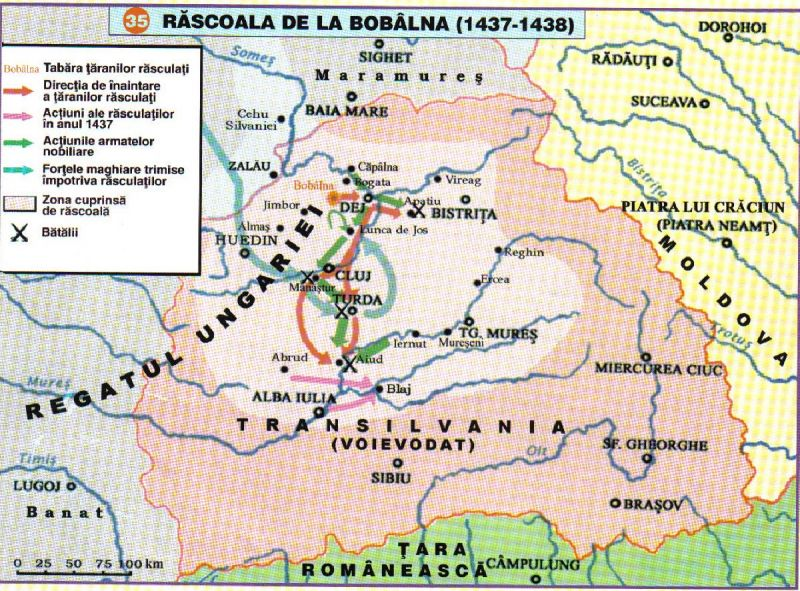 Răscoala de la Bobâlna (1437-1438) - foto preluat de pe cersipamantromanesc.wordpress.com
